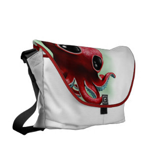 Mr Octopus Courier Bags