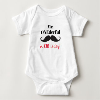Mr. ONDderful 1st Birthday one piece shirt