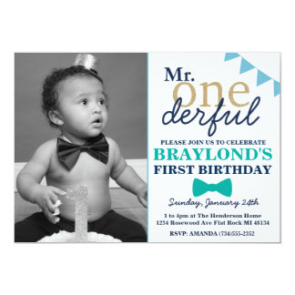 Mr Onderful Birthday Invitation