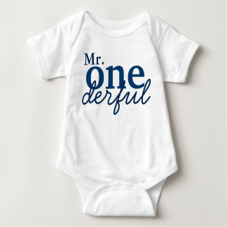 Mr Onederful Baby Shirt