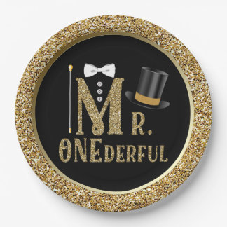 Mr ONEderful First Birthday Paper Plates