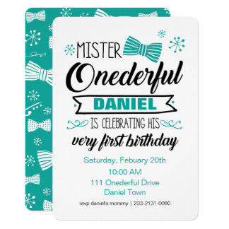Mr. Onederful Invitation
