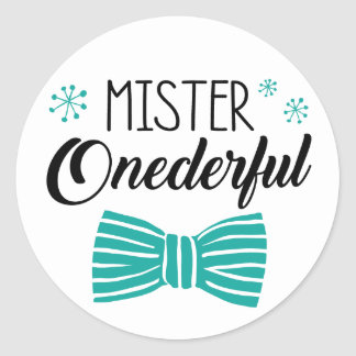 Mr. Onederful Party Sticker