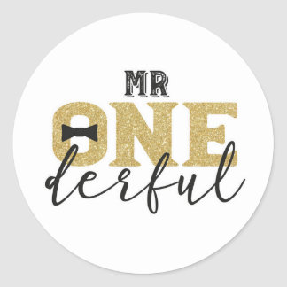Mr Onederful Stickers