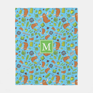 Mr. Orlando - Pattern Fleece Blanket