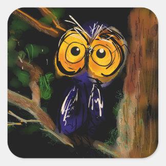 Mr. Owl Square Sticker