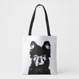 Mr. Peabody the Pomeranian tote