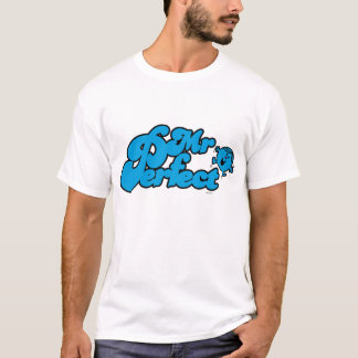 Mr. Perfect | Large Blue Letters T-Shirt