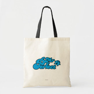 Mr. Perfect | Large Blue Letters Budget Tote Bag