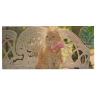 Mr. Perkins Proper Kitty Wood USB 3.0 Flash Drive