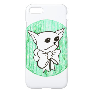Mr. PiddlePoo the Chihuahua, a vision in green iPhone 8/7 Case