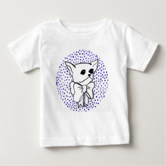 Mr. PiddlePoo the Chihuahua, purple polka dots Baby T-Shirt
