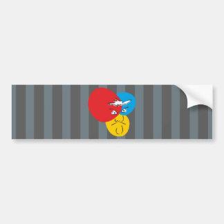 Mr.Pique bumper sticker Car Bumper Sticker