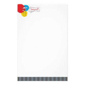 Mr.Pique Poppycock letterhead Stationery