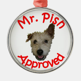 Mr Pish Approved Gear Silver-Colored Round Decoration