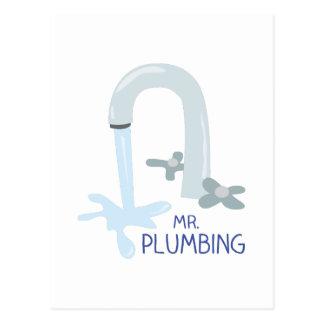 Mr Plumbing Postcard