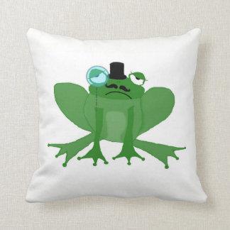 Mr Posh Frog double sided cushion