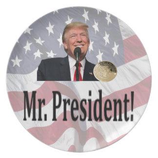 Mr. President, Americas 45th President Dinner Plates