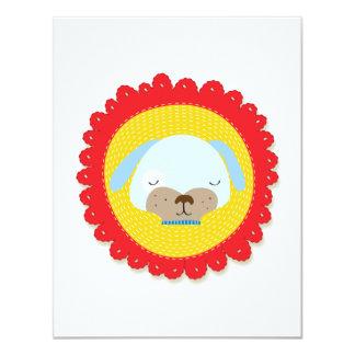 Mr Puppy 11 Cm X 14 Cm Invitation Card