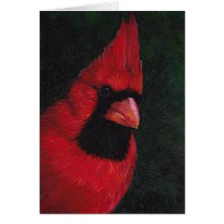 Mr Red Cardinal Bird Art Greeting Card