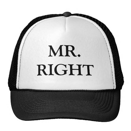 MR. RIGHT CAP MESH HAT