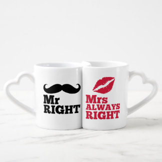 Mr Right / Mrs Always Right Coffee Mug Set
