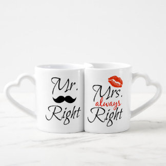 Mr. Right & Mrs. always Right Couple Mugs