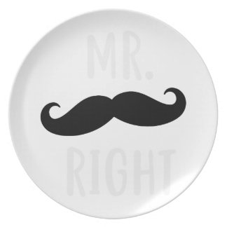 Mr Right Plate