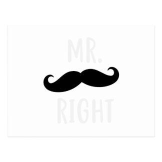 Mr Right Postcard