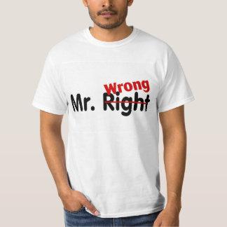 Mr Right Wrong Tshirt