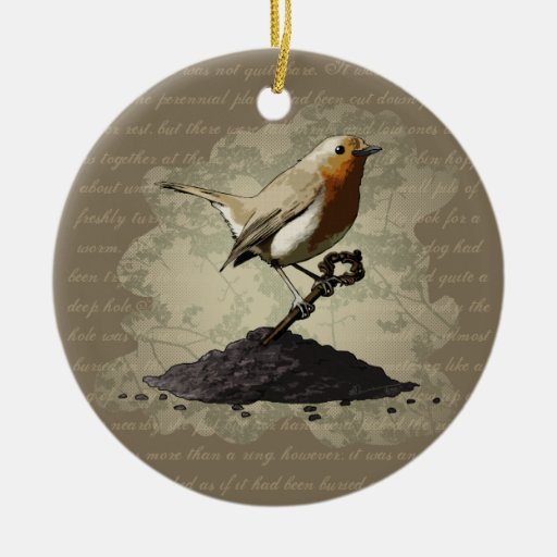 Mr. Robin Finds the Key, ornament