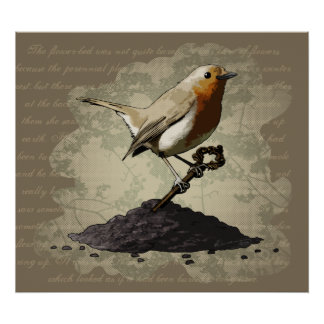 Mr. Robin Finds the Key, print Poster