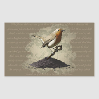 Mr. Robin Finds the Key, rectangle stickers Rectangular Sticker