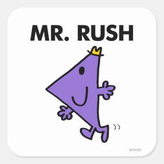 Mr. Rush   Quick Pace Square Sticker