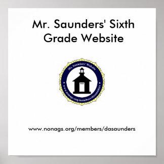 Mr. Saunders' Website Mousepad Poster