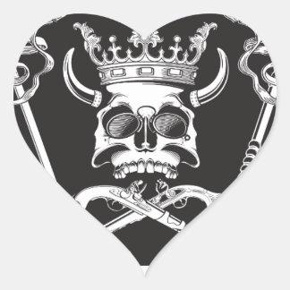 Mr Skull Heart Sticker