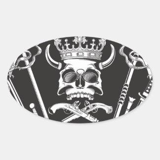 Mr Skull Oval Sticker