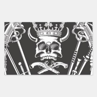 Mr Skull Rectangular Sticker
