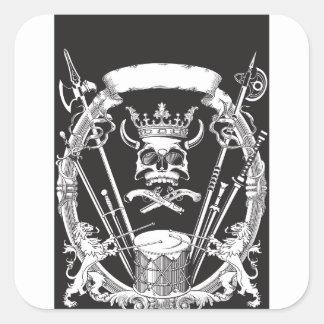 Mr Skull Square Sticker