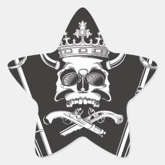Mr Skull Star Sticker