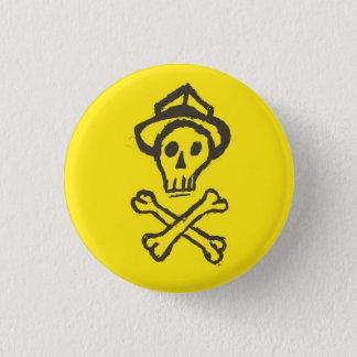 Mr. Skullington - Lemon Yellow 3 Cm Round Badge