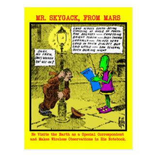 Mr. Skygack Observes a Drunk Postcard