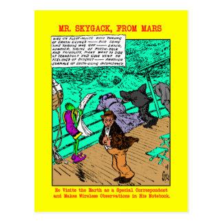 Mr. Skygack Observes Seasick Passengers Postcard