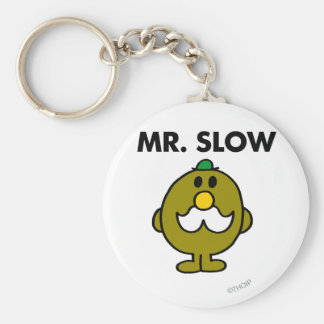Mr. Slow | Classic Pose Basic Round Button Key Ring