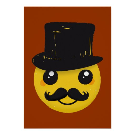 Mr Smiley Moustache poster