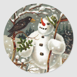 Mr. Snowman and Mr. Crow Stickers