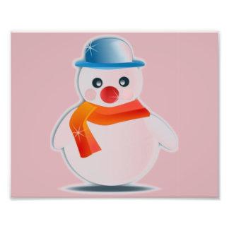 Mr Snowman Art Photo