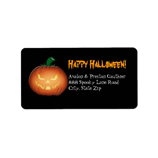 Mr Spooky Jack O Lantern Halloween Address Labels