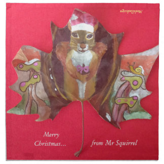 Mr Squirrel Printed Napkin