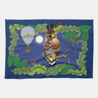 Mr.Steam at Night Tea Towel